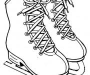 Coloriage Chaussures de Patinage