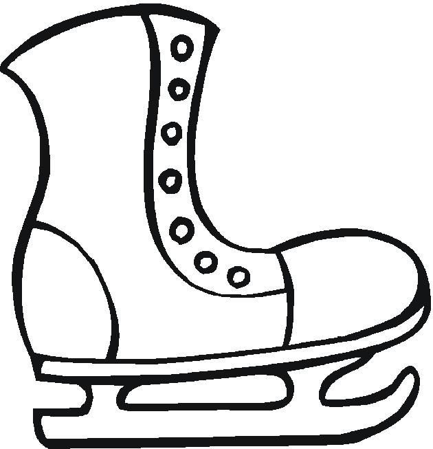 Coloriage et dessins gratuits Chaussures De Patinage De Glace à imprimer
