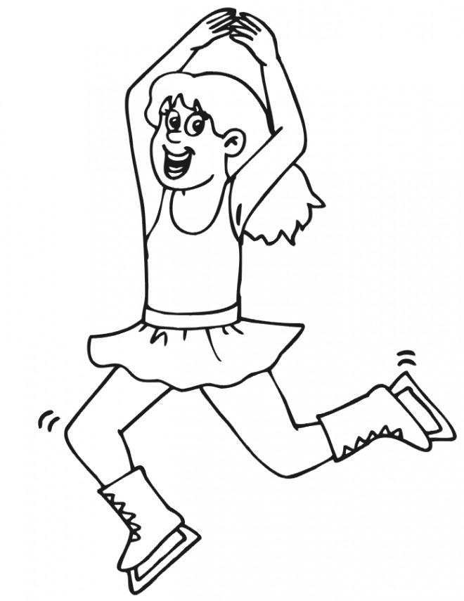 Coloriage et dessins gratuits Danse et Patinage à imprimer