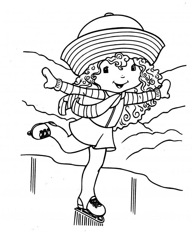 Coloriage et dessins gratuits Fille mignonne Patine à imprimer