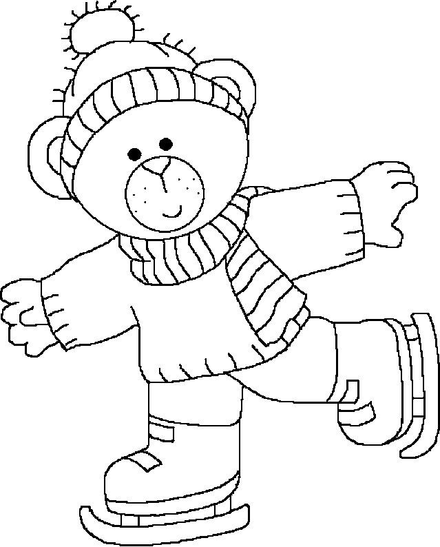 Coloriage et dessins gratuits Ours fait du patin à imprimer