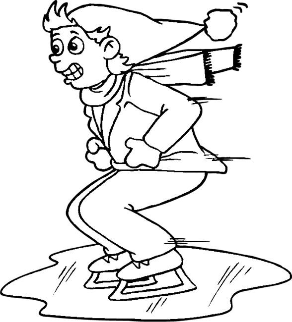 Coloriage et dessins gratuits Patinage humoristique à imprimer