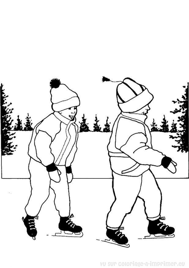 Coloriage et dessins gratuits Patinage pour enfant à imprimer