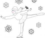 Coloriage Patinage sous la neige