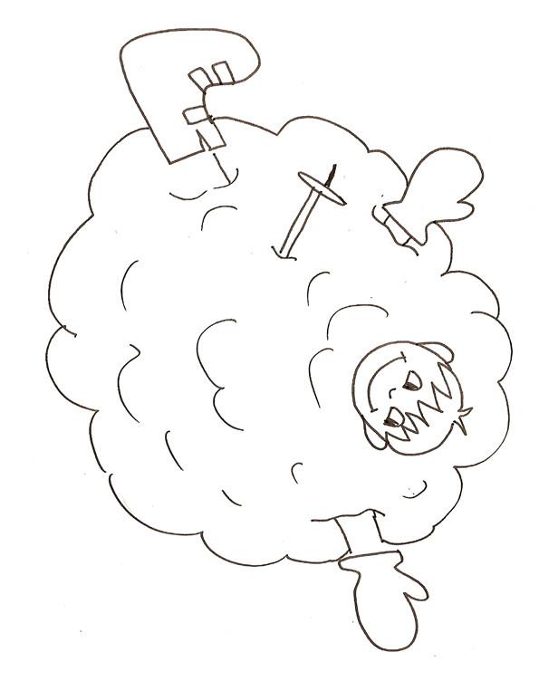Coloriage et dessins gratuits Ballon de Neige à imprimer