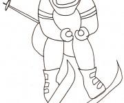 Coloriage dessin  Ski 10