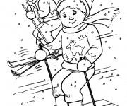 Coloriage dessin  Ski 12