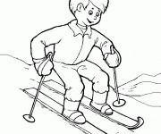 Coloriage dessin  Ski 14