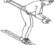 Coloriage dessin  Ski 3