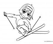 Coloriage dessin  Ski 4