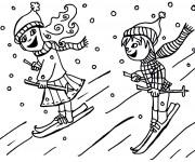 Coloriage dessin  Ski 8