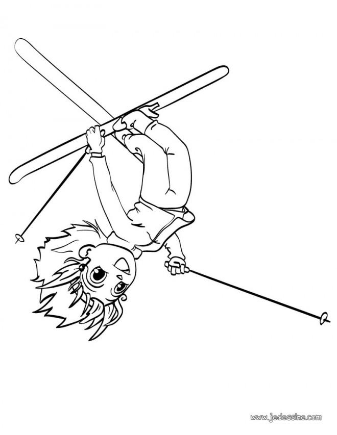 Coloriage et dessins gratuits Ski Freestyle à imprimer