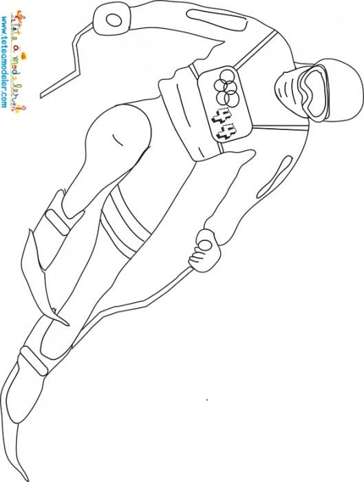 Coloriage et dessins gratuits Ski jeux Olympiques à imprimer