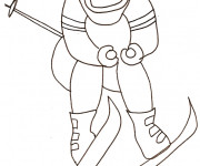 Coloriage et dessins gratuit Skieur adulte à imprimer