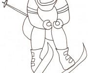 Coloriage Skieur adulte