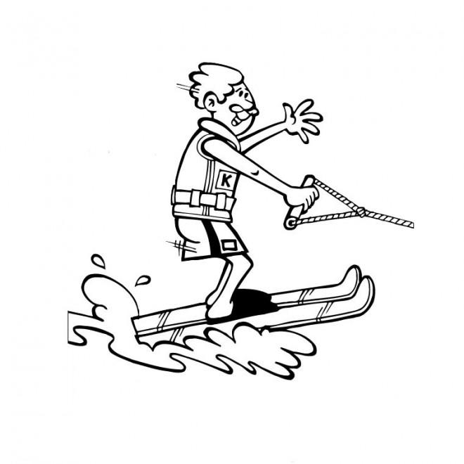 Coloriage et dessins gratuits Skieur amateur à imprimer