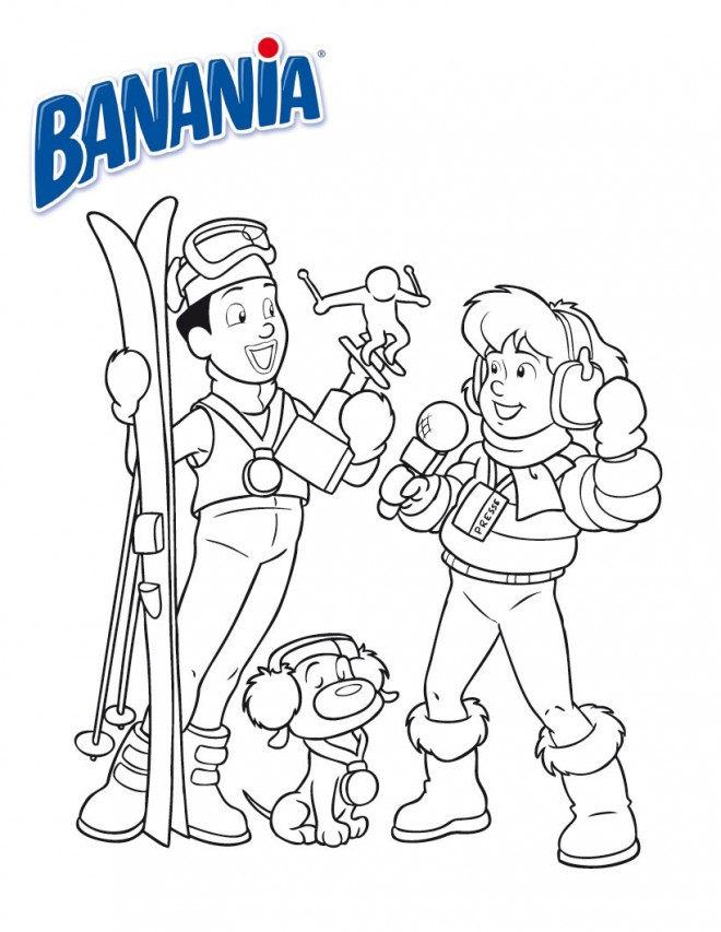Coloriage et dessins gratuits Skieur champion à imprimer