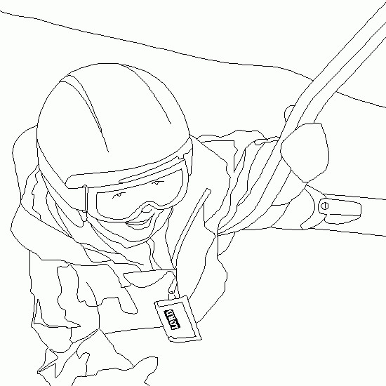 Coloriage et dessins gratuits Skieur monte la Montagne à imprimer