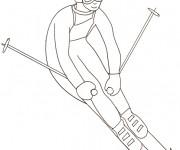 Coloriage skieur professionnel au crayon dessin gratuit imprimer - Coloriage professionnel ...