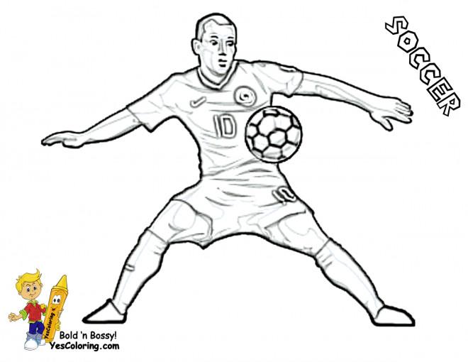 Coloriage et dessins gratuits Attaquant Soccer à imprimer