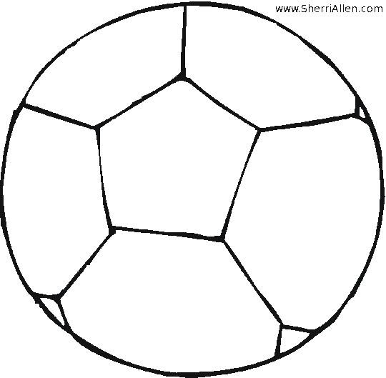 Coloriage et dessins gratuits Ballon de Soccer en noir à imprimer