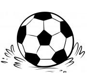 Coloriage et dessins gratuit Ballon de Soccer sur le terrain à imprimer