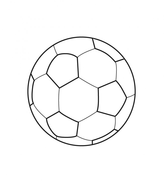 Coloriage et dessins gratuits Ballon de Soccer vecteur à imprimer