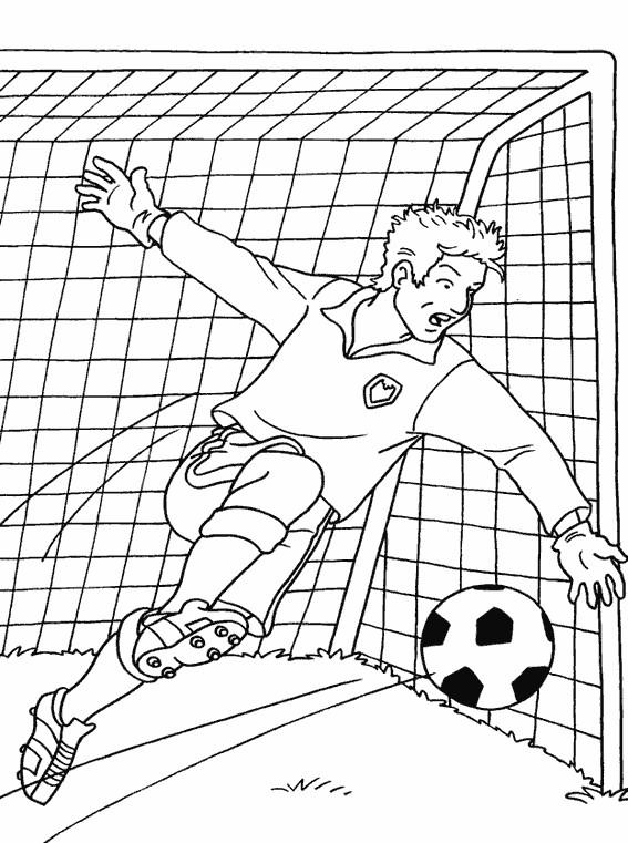 Coloriage et dessins gratuits Ballon et Gardien à imprimer