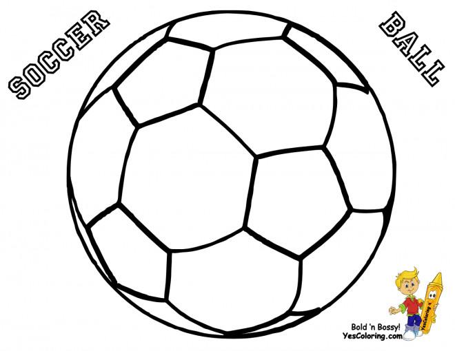 Coloriage Ballon Soccer à colorier dessin gratuit à imprimer