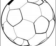 Coloriage Ballon Soccer en noir et blanc