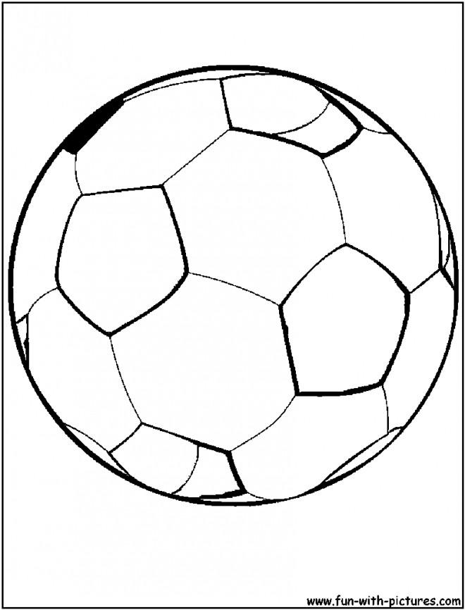 Coloriage et dessins gratuits Ballon Soccer en noir et blanc à imprimer