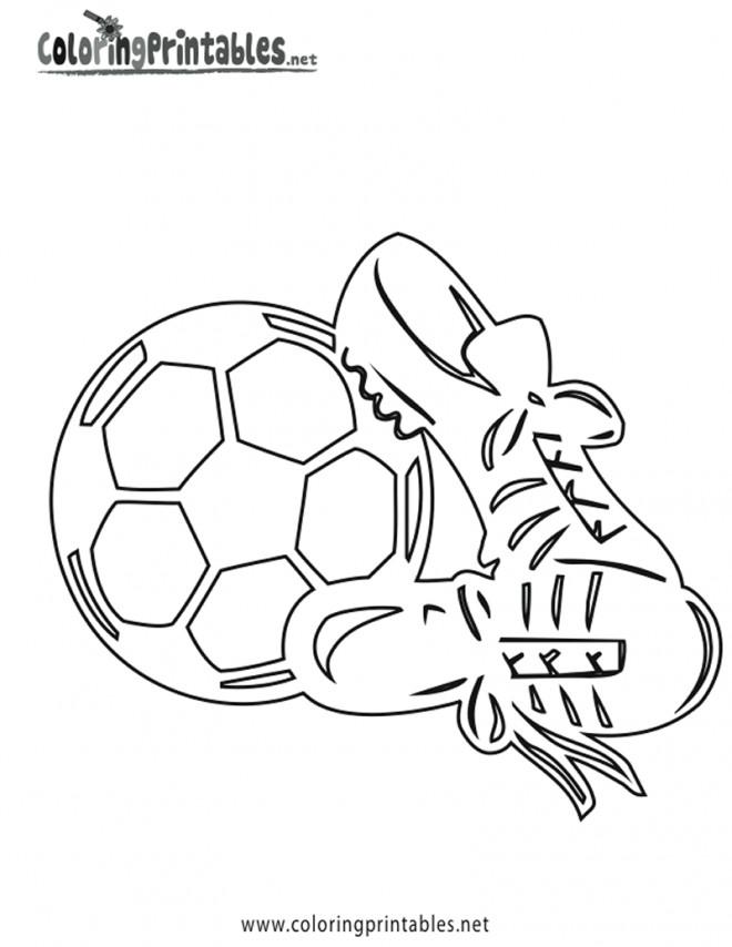 Coloriage et dessins gratuits Chaussures de Soccer stylisé à imprimer