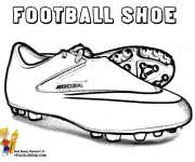 Coloriage Chaussures Soccer vecteur