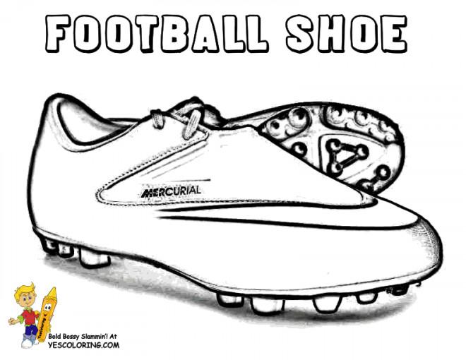 Coloriage Chaussures Soccer Vecteur Dessin Gratuit à Imprimer
