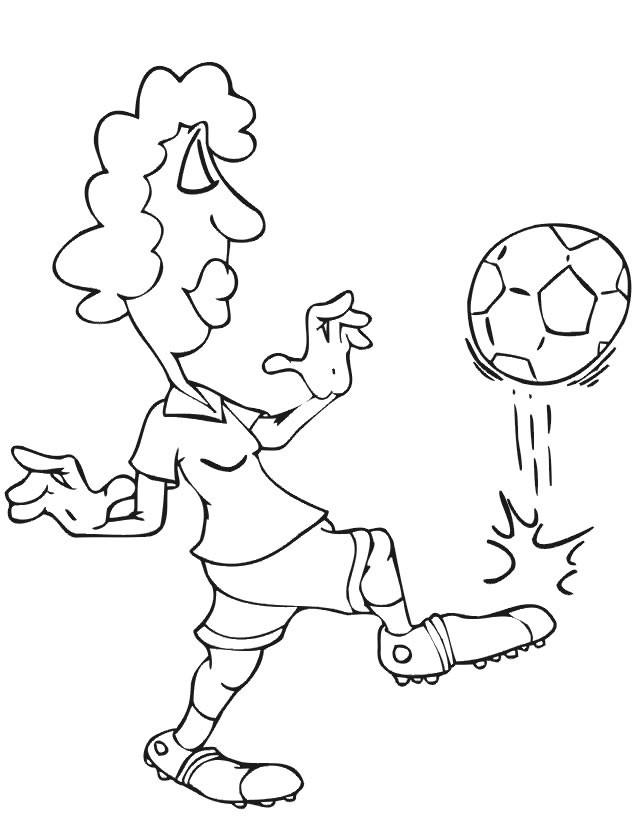 Coloriage et dessins gratuits Femme qui joue au Ballon à imprimer