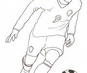 Coloriage Football stylisé