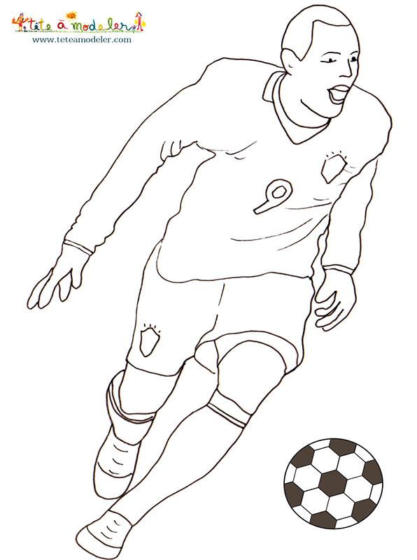 Coloriage et dessins gratuits Football stylisé à imprimer