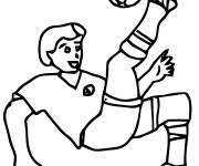 Coloriage Football Tire splendide