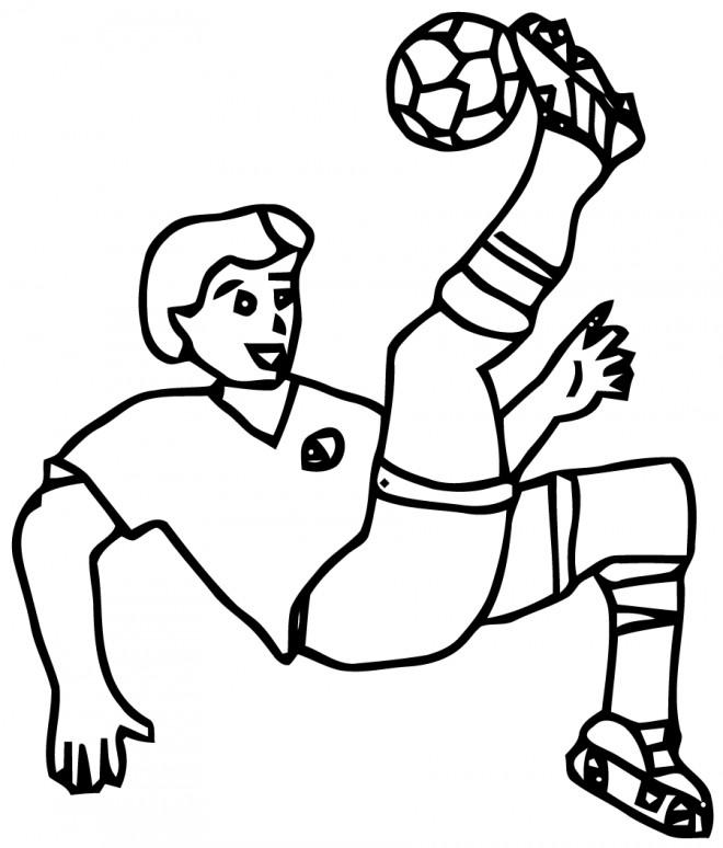 Coloriage Football Tire splendide dessin gratuit à imprimer
