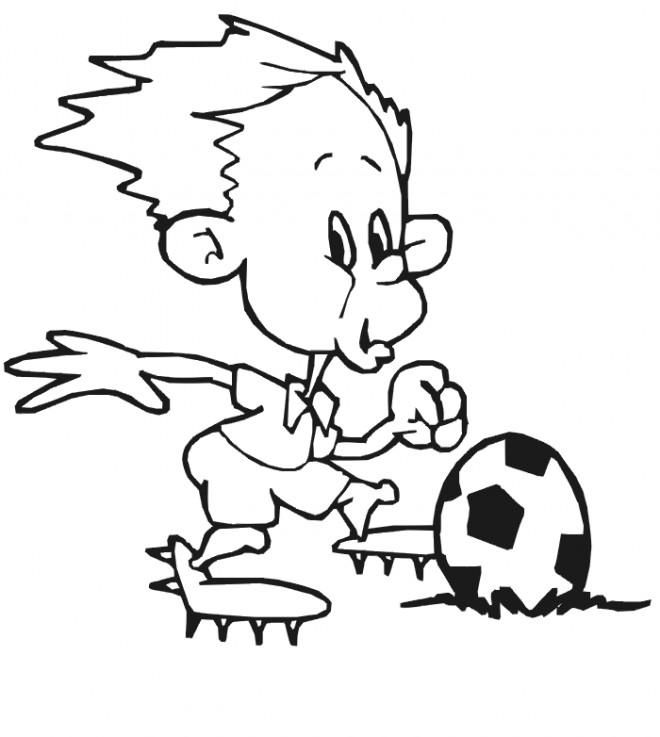 Coloriage et dessins gratuits Footballeur drôle à imprimer