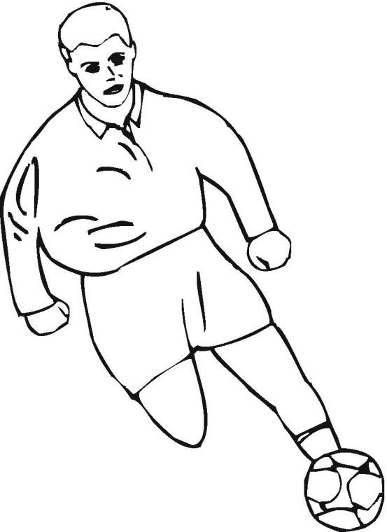 Coloriage et dessins gratuits Footballeur qui avance à imprimer