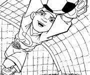 Coloriage Gardien de but Soccer