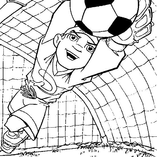 Coloriage et dessins gratuits Gardien de but Soccer à imprimer