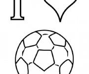 Coloriage et dessins gratuit J'aime Soccer à imprimer