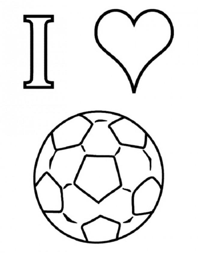Coloriage et dessins gratuits J'aime Soccer à imprimer