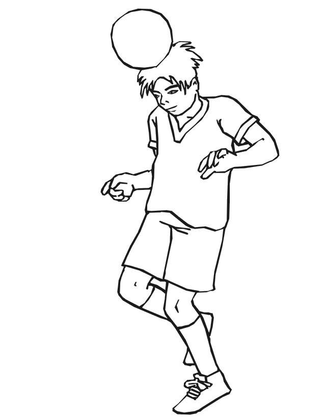 Coloriage et dessins gratuits Jeune Footballeur à imprimer