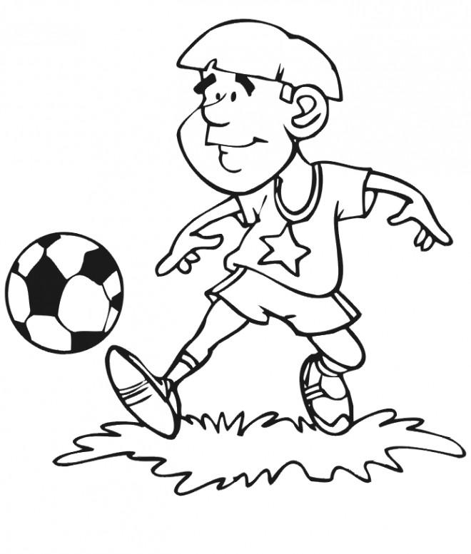 Coloriage et dessins gratuits Joueur de Soccer amateur à imprimer