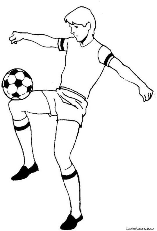 Coloriage et dessins gratuits Joueur professionnel avec le ballon à imprimer