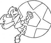 Coloriage Joueur Soccer au tire
