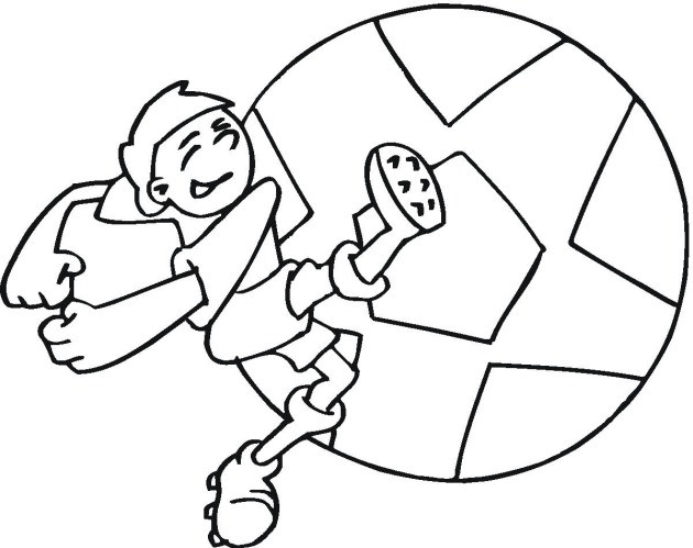 Coloriage et dessins gratuits Joueur Soccer au tire à imprimer